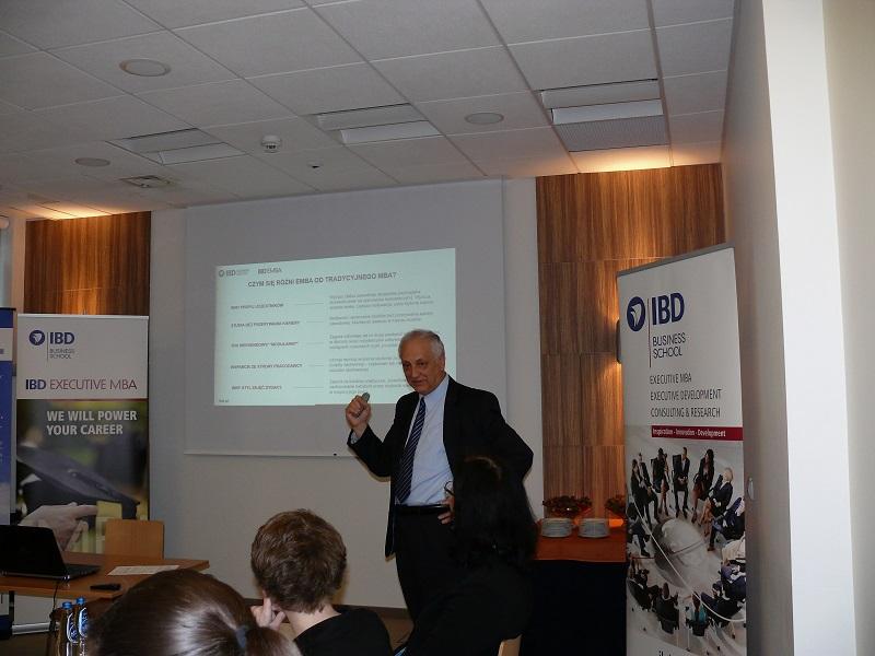 Fotorelacja - IBD EMBA I sesja informacyjna