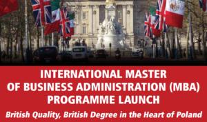 Inauguracja programu International MBA