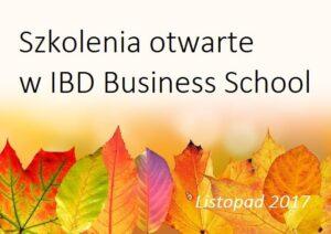 Szkolenia otwarte w listopadzie 2017 – w Warszawie i Katowicach