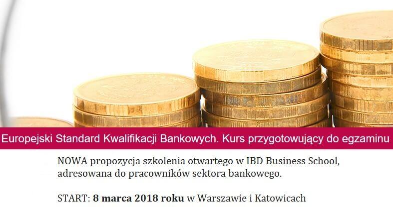 NOWOŚĆ! Kurs przygotowujący do egzaminu na Europejski Certyfikat Bankowca