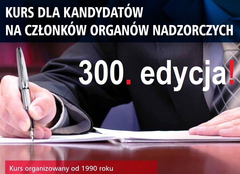 300. edycja kursu dla kandydatów na członków rad nadzorczych w IBD Business School