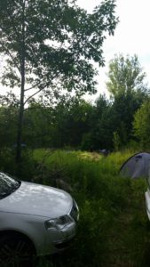 namiot w zaciszu leśnym
