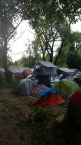 przykładowe miejsce namiotowe