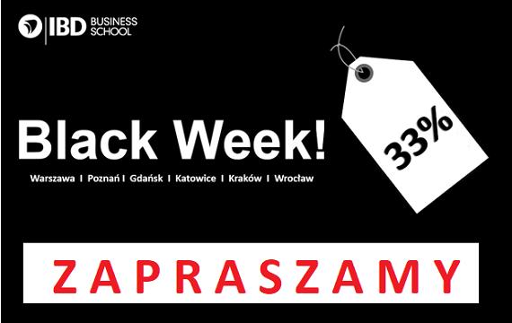 Black Week 2019! Wyjątkowe rabaty w IBD Business School