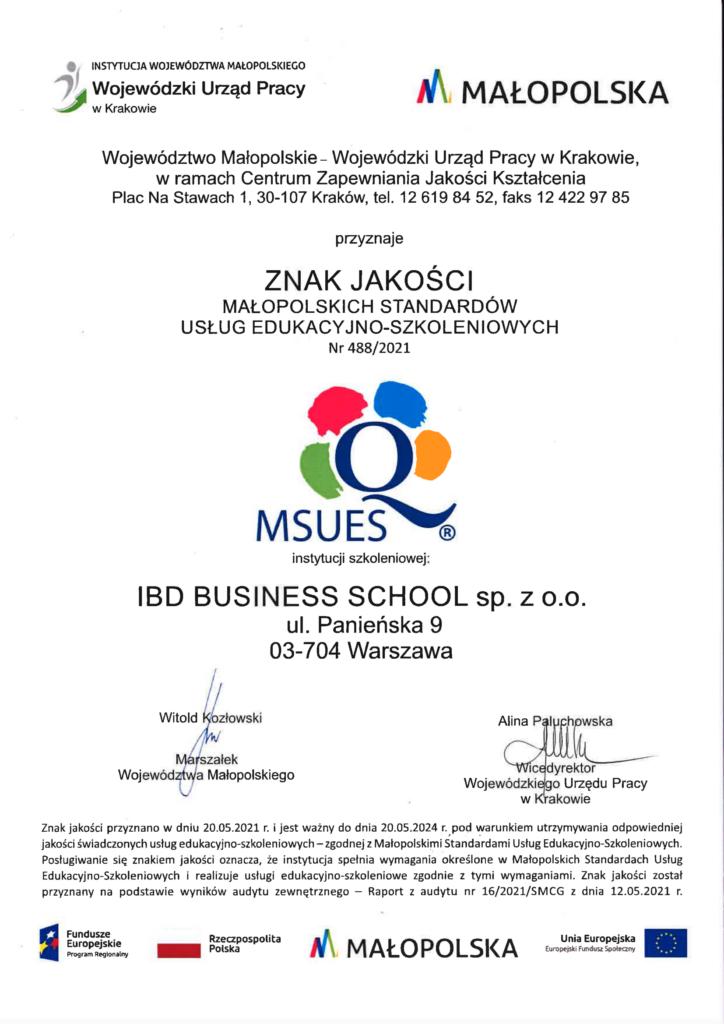 Znak jakości MSUES