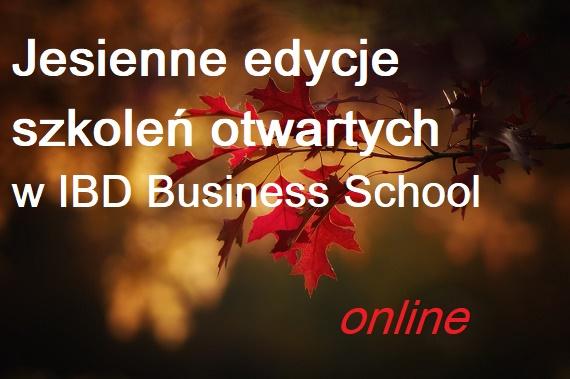 Jesienne szkolenia otwarte w IBD. Potwierdzone edycje szkoleń